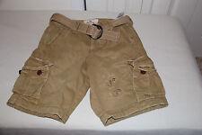 2013 Hollister Dudes Mens Cargo Shorts w/ belt-sz 28- NWT