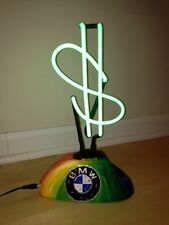 STEFANIE,BMW LOGO,BMW ART CAR,SIGNED,ORIGINAL,MONEY NEON LIGHT,STEVE KAUFMAN PIC