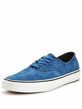 MENS VANS AUTHENTIC DECON SUEDE TRAINERS. BLUE SIZE 9.