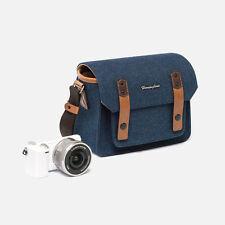 NEW Herringbone Camera Shoulder Mini Bag for Compact DSLR / Accessories (Navy)