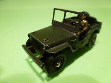 DINKY TOYS 80B HOTCHKISS WILLYS JEEP - ARMY GREEN 1:50 - GOOD COND - MILITARY