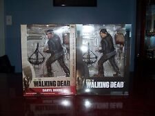 """Lot of (2) The Walking Dead Daryl Dixon 10"""" Action Figures"""