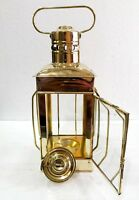 "Vintage Brass Oil Lamp Maritime Ship Lantern Boat Light Decorative 12"""