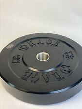 Single 45 lb Black Bumper Weight Plate, Olympic / 2""