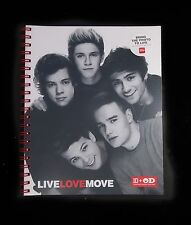 NWT One Direction Spiral 100 Pages Notebook School Supplies Plastic Cover 1D NEW