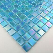 mosaique echantillon de verre sol et mur modele mv-rainbowazur