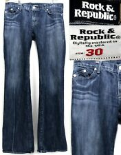 Rock & Republic Women's Jeans Size 30 X 34 Distressed Blue Bootcut