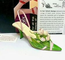"Just The Right Shoe ""Treasured Tulip"" #25352 Breast Cancer 2002"