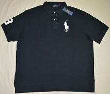 New 3XB 3XL BIG 3X POLO RALPH LAUREN Mens Big Pony shirt top black short sleeved
