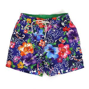 Polo Ralph Lauren Swimsuit Swim Shorts - Bright Floral Aloha Watercolor