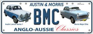 Austin Morris Lancer Series bmc Number Plates Licence Vanity Sign license plate