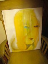 "OIL PAINTING: Belgium Artist Cecile de Forrey's ""Blond Amere"" ABSTRACT"