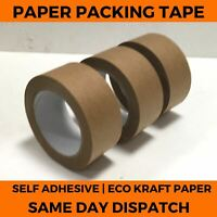 Brown Kraft Paper Tape - Self Adhesive Strong Eco Packaging Parcel