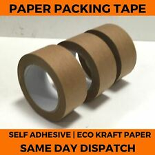 More details for brown kraft paper tape - packing self adhesive strong eco packaging parcel