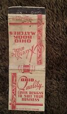 Vintage Matchbook Cover Matchcover Ohio Book Matches Advertisement Red & White