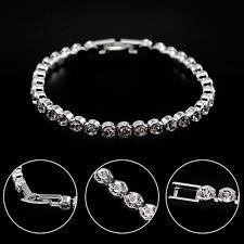Sparkly bling diamante/rhinestone/crystal silver stretch bracelet Uk seller