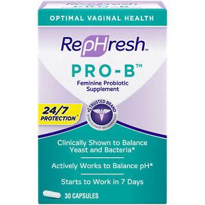 RepHresh Pro-B Probiotic Supplement for Women, 30 Oral Caps Exp 2022