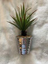 Faux Succulents In Silver Pots