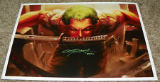 Chris Sabat Roronoa Zoro One Piece Signed 18x12 Print Auto Private Signing