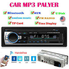 1 DIN 12V Bluetooth Car Stereo In Dash MP3 Player Aux-In USB FM Radio Receiver