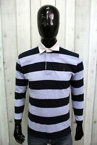 Polo Ralph Lauren Uomo Taglia M Multicolore Cotone Manica Lunga Maglia T-Shirt