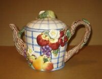 Vintage Omnibus by Fitz and Floyd Fruit Arbor Teapot  1994