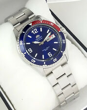 ORIENT MAKO II DIVERS Automatic BLUE Dial Red  FAA02009D9 NEW Stainless Steel