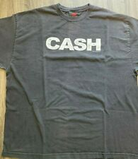 """Johnny Cash T Shirt with """"autograph"""" on sleeve 2XL Black"""