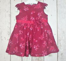 BNWT Pretty Baby Girl Burgundy Floral Dress - George (First Size)