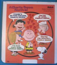 RCA Selectavsion Videodisc Peanuts A Charlie Brown Festival Movie