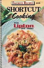 Shortcut Cooking with LIPTON SIDE DISHES Small Spiral Cookbook Favorite Recipes