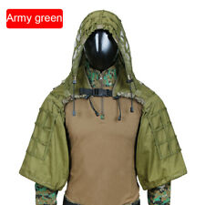Tactical Sniper Top Ghillie Base Airsoft Hunting Ghillie Suit Hooded Foundation