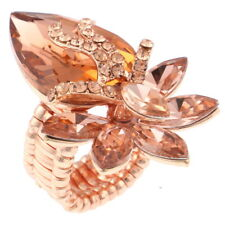 Rose Gold Stretch Ring With Rhinestone RQ135-RSG