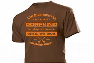 """""""Leg Dich nicht mit Dorfkind an"""" Fun Shirt Cooler Spruch Männer Witzig Gr S-XXL"""