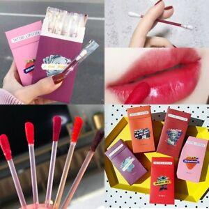 Tobacco Box Cotton Swab Lip Gloss Set Moisturizing Long Lasting Liquid Lipstick
