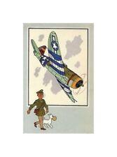 HERGé/TINTIN 195x  CHROMO L AVIATION 1939/45  N°51 BE+