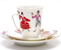 Imperial Lomonosov Porcelain Tea Cup Saucer Plate Don Quixote Ballet 3-pc. SALE