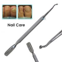NAIL CURETTE Cleaner Tool DUAL Spoon Cuticle Pusher Manicure DEBRIS REMOVER Ball