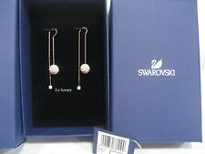 Swarovski Fun Pierced Earrings, Rose Gold-Plated Crystal Authentic MIB 5238110