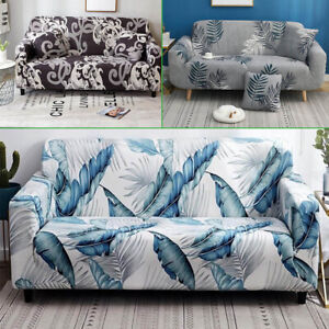 2/3 Sofa Covers Couch Slipcover Stretch Elastic Fabric Settee Protector Fit UK