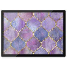 Quickmat Plastic Placemat A3 - Pretty Ethnic Pink Purple  #12951