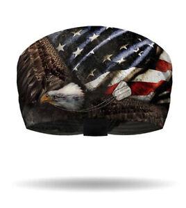 That's a Wrap! Dog Tags Patriotic Eagle Knotty Band Head Wrap Bandana KB1425