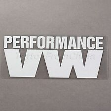 PERFORMANCE VW Car Truck Window Laptop Reflective Vinyl Decal Decoration Sticker