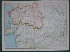 1952 LARGE MAP ~ GERMANY THURINGEN ANHALT MECKLENBURG
