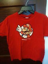 Preowned Super Mario Bros NES Nintendo World new York Tshirt Red Girls size XL