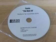 SUEDE - THE BEST OF - FRENCH PROMO CD !!! ULTRA RARE!!!!!