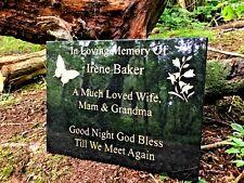 Memorial Grave Plaque Stone Engraved Headstone Large Black Granite 40x30cm