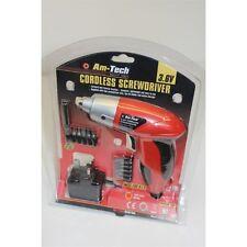 3.6v Cordless Screwdriver Kit - 36v Rechargeable Electric Set Amtech