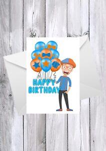 BLIPPI birthday card, any name, any age, any relation