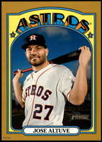 Jose Altuve 2021 Topps Heritage 5x7 Gold #43 /10 Astros